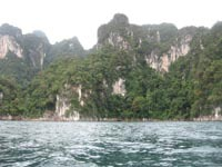 The scenery in Khao Sok is truly spectacular.