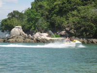 Explore the bays and headlands on a jetski