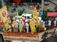 Colourful procession