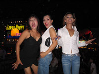 Soi Katoey - three ladyboys ham it up