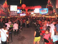 A typical beer bar soi off Bangla Road