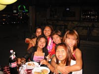 Thai girls love a party