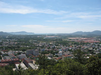 Khao Rang view across Phuket town to Chalong Bay