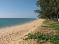 Mai Khao Beach is a great stretch of sand but not ideal for swimming