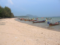 Rawai beach has many longtails that you can rent to visit the islands