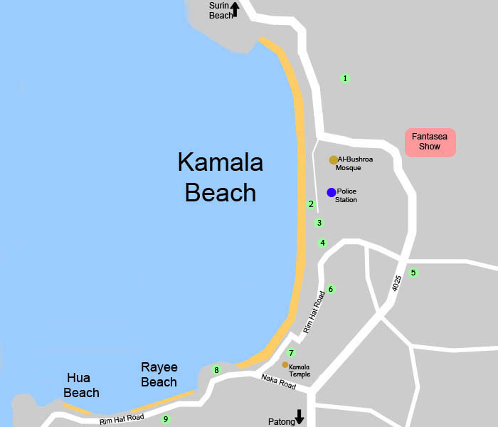 Phuket Map Kamala